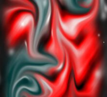 Red-Teal Abstract by DeezDesigns