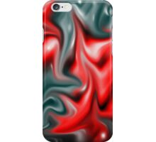 Red-Teal Abstract iPhone Case/Skin
