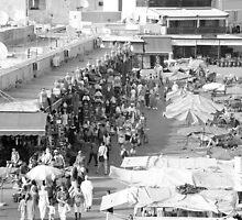 Medina market by day (black and white) by shermank