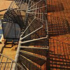 Winding Fire Escape by Madeleine Forsberg