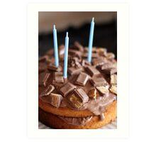 Chocolate cake Birthday card Art Print