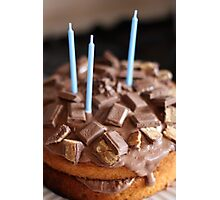 Chocolate cake Birthday card Photographic Print
