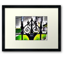 Ancient gate Framed Print