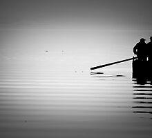 Fishermen-Greek lake Kerkini by Tasos Hatzikirou