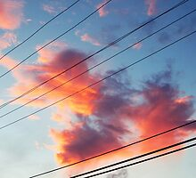 Clouds against powerlines by nmephotography