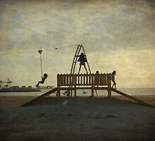 A tirolina da praia da Concha by rentedochan