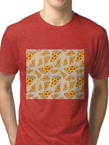 Pizza Pattern Tri-blend T-Shirt