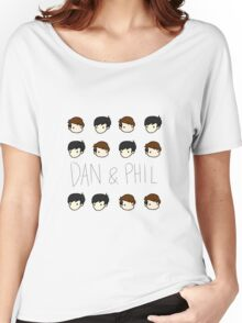 Dan and Phil Pattern Women's Relaxed Fit T-Shirt