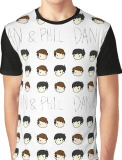 Dan and Phil Pattern Graphic T-Shirt