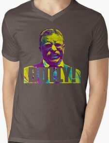 Bully! - Theodore Roosevelt - Cutout Text Mens V-Neck T-Shirt