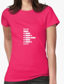 star wars (in morse code) Womens Fitted T-Shirt