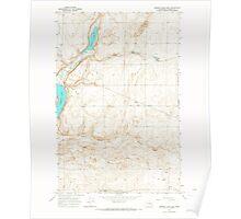 USGS Topo Map Washington State WA Jameson Lake East 241687 1965 24000 Poster