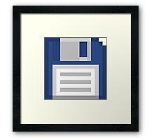 Pixel Floppy Disk Framed Print