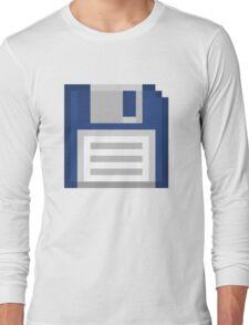 Pixel Floppy Disk Long Sleeve T-Shirt