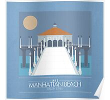 Beach Cities. Manhattan Beach [Dark] Poster