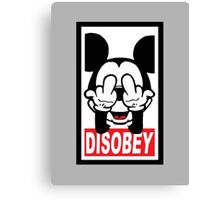 DISOBEY Canvas Print
