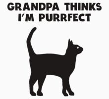 My Grandpa Thinks I'm Purrfect One Piece - Long Sleeve