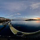 Dawn Calm at Foyle Marina - Rectangular by George Row