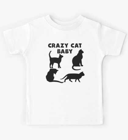Crazy Cat Baby Kids Tee