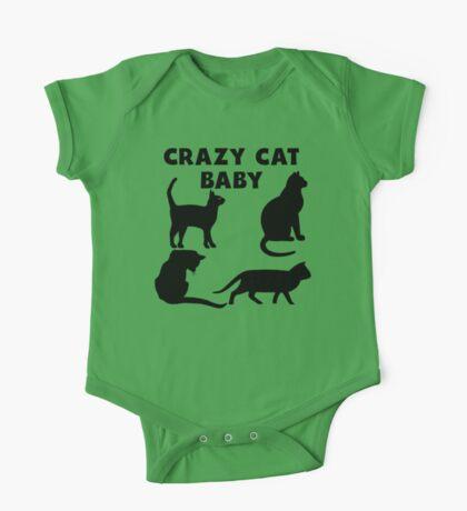 Crazy Cat Baby One Piece - Short Sleeve