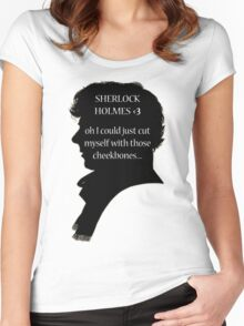 Sherlock's Cheekbones Women's Fitted Scoop T-Shirt