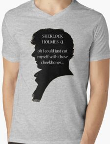 Sherlock's Cheekbones Mens V-Neck T-Shirt