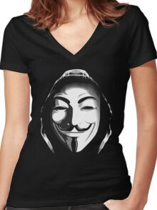 ANONYMOUS T-SHIRT Women's Fitted V-Neck T-Shirt