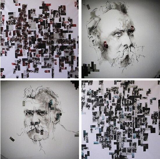 Tribute to Nietzsche ( La Grande Raison Rouge et Bleu ) by MarieLouPeree
