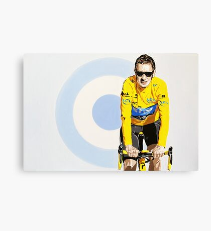 BRADLEY WIGGINS - MOD GOD CYCLIST Canvas Print