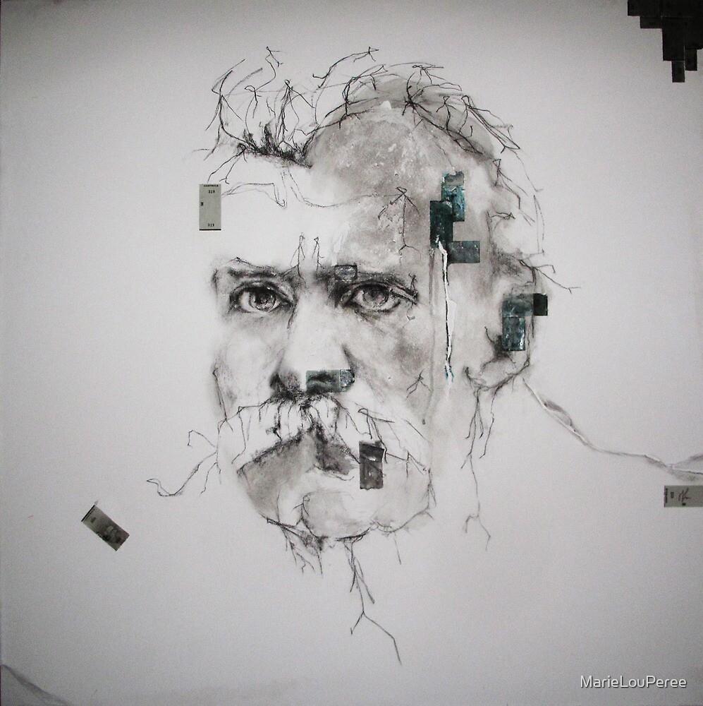 Tribute to Nietzsche ( La Grande Raison Rouge et Bleu ) detail by MarieLouPeree