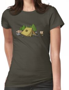 no camping Womens Fitted T-Shirt