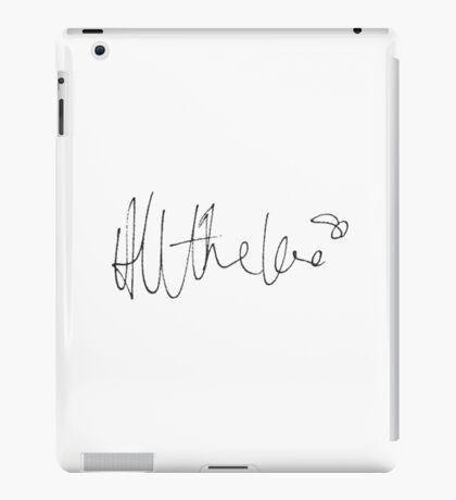 harry styles all the love handwriting iPad Case/Skin