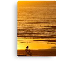 Morning Bicycle Ride Canvas Print