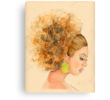 Miss. Fro Canvas Print