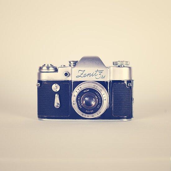 Andreka portfolio retro vintage black camera on beige