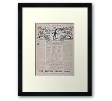 Help him back to civil life Dont delay join to day! The British Empire Union 497 Framed Print