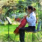 Cellist in the Garden by Susan Savad