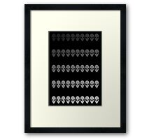 50 Shades of Greys Framed Print