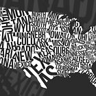 United States of Typography: Black by jlo2006