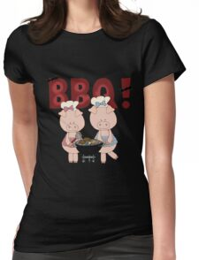 Barbeque Pigs Womens Fitted T-Shirt