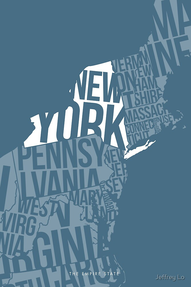 United States of Typography: New York by Jeffrey Lo
