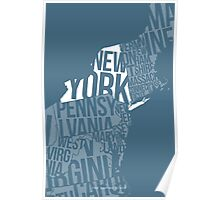 United States of Typography: New York Poster