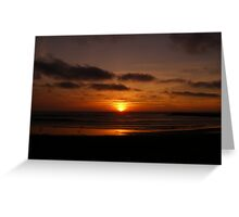 Sunset in Atlantic Coast Greeting Card