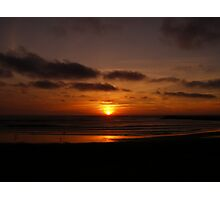 Sunset in Atlantic Coast Photographic Print