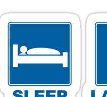 Eat Sleep Launch Sticker