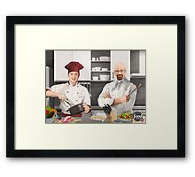 Cooking Bad Framed Print