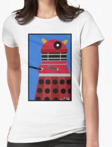 Dalek Sticker Womens Fitted T-Shirt