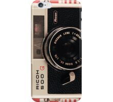 Retro - Vintage Black Camera on Red Chequered Pattern Background  iPhone Case/Skin