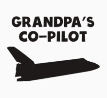 Grandpa's Co-Pilot Kids Tee