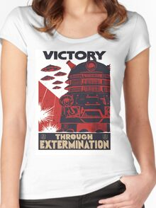 All Hail Our Dalek Overlord Women's Fitted Scoop T-Shirt